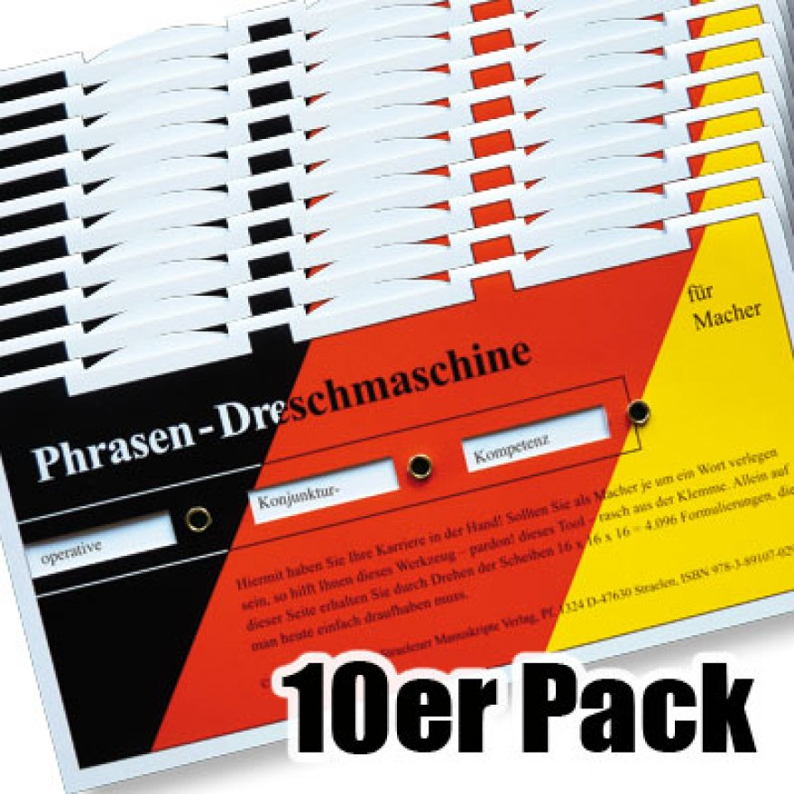 10er Pack Phrasendrescher