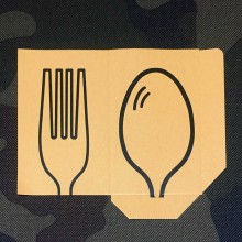 Fork / Spoon Envelopes open / cut / printed (50 pieces)