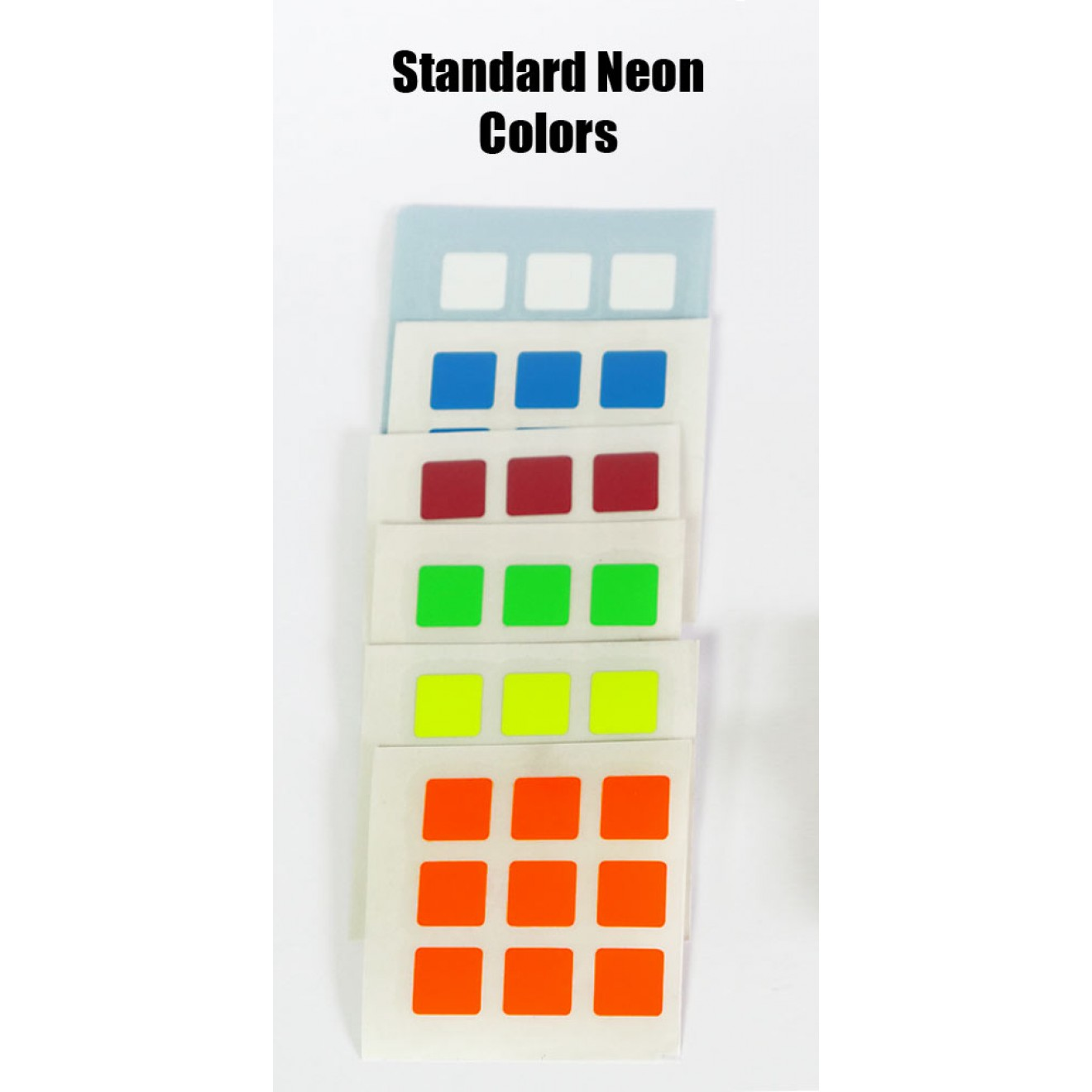 replacement sticker for easy cube set of 6 colors neon stage